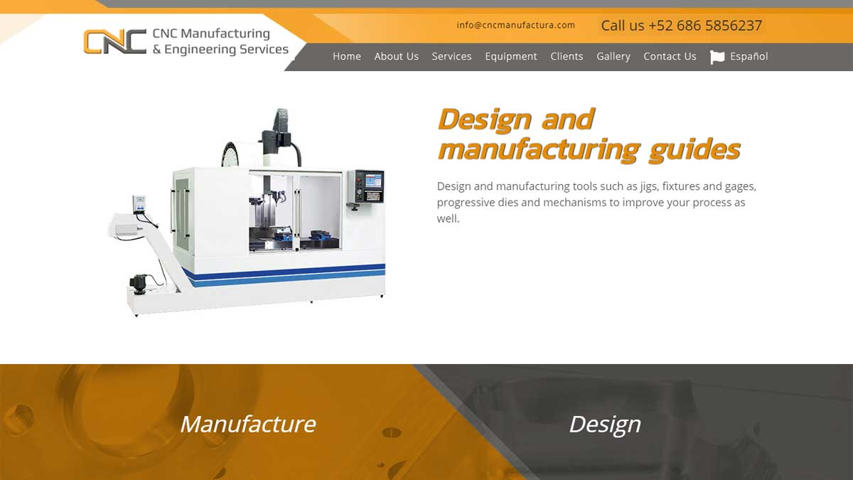 Cnc Manufacturing Engineering Services Web Design El